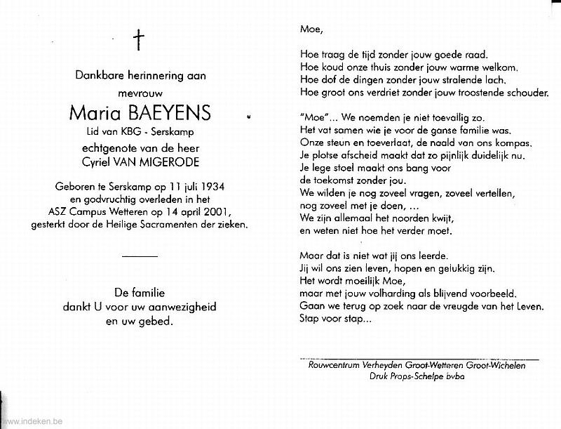 Maria Baeyens