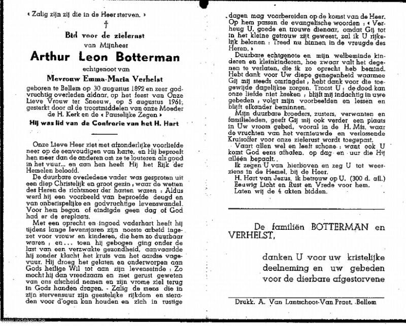Arthur Leon Botterman