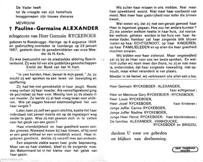 Pauline Germaine Alexander