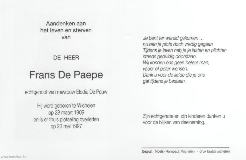 Frans De Paepe