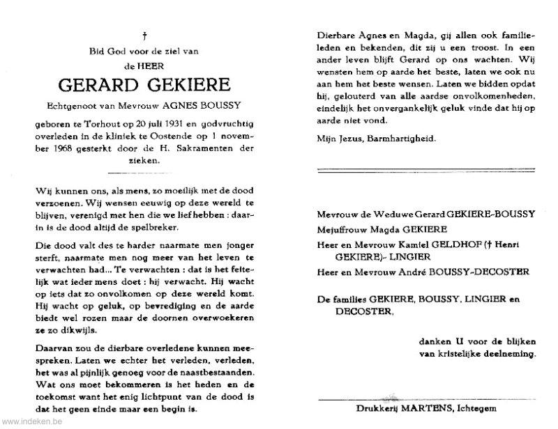 Gerard Gekiere