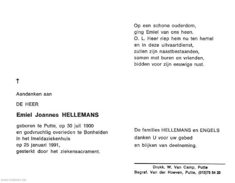 Emiel Joannes Hellemans