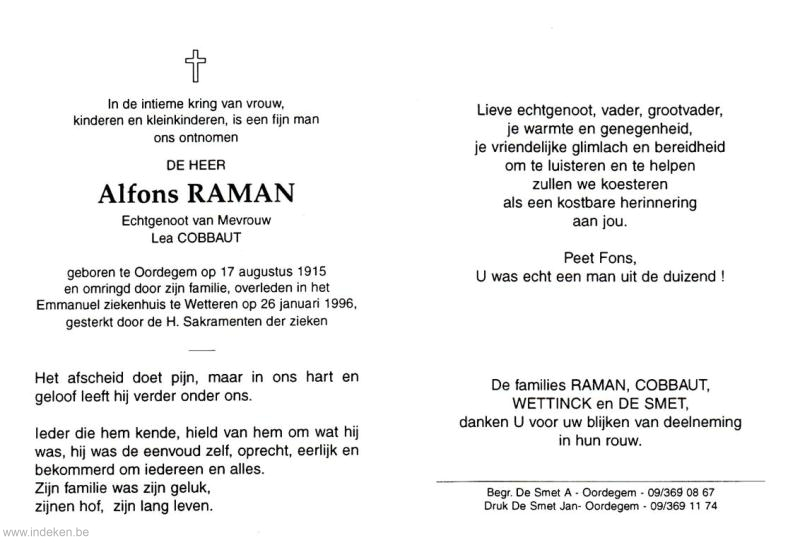 Alfons Gerard Albert Raman