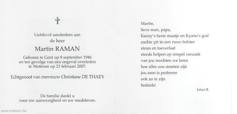 Martin Theophiel Raman