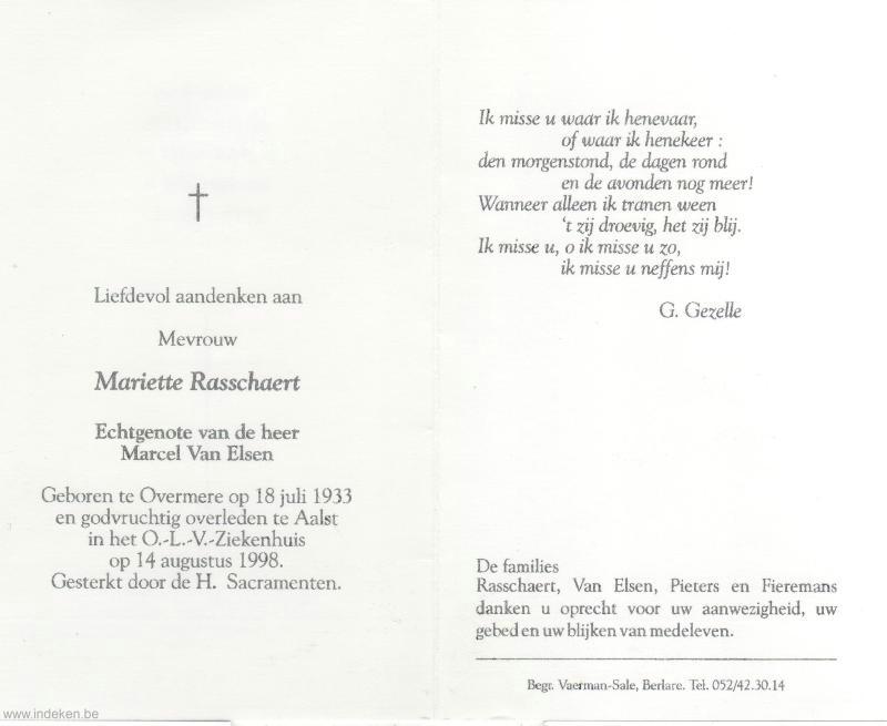 Mariette Rasschaert