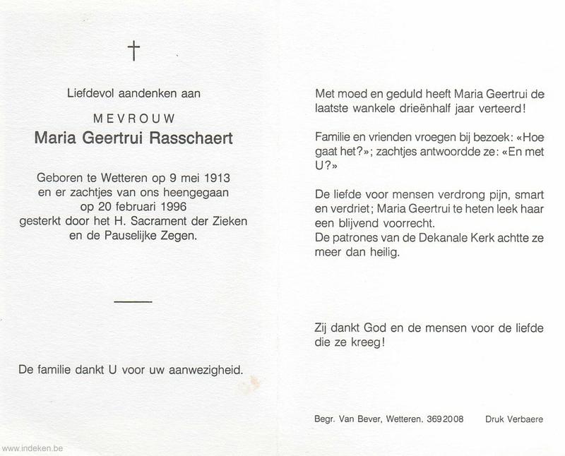 Maria Geertrui Rasschaert