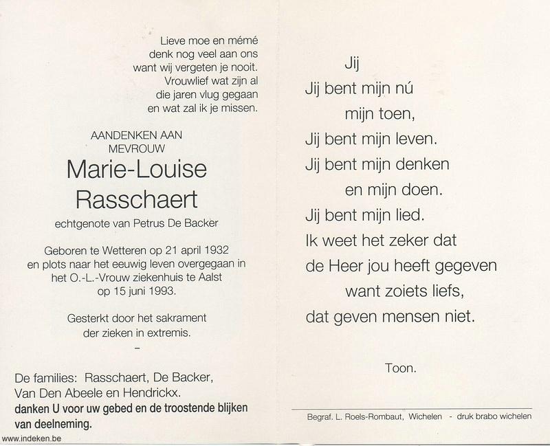 Marie Louise Rasschaert