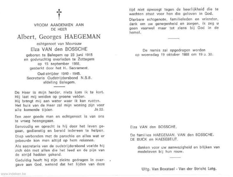 Albert Georges Haegeman