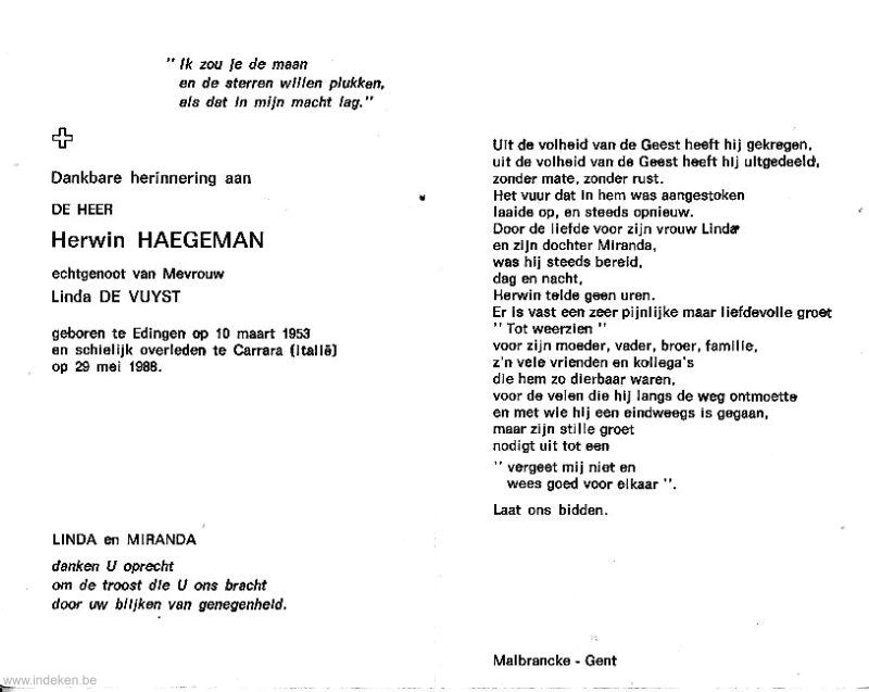 Herwin Lucien Georges Haegeman