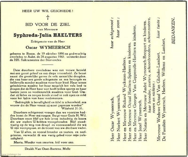 Syphreda Julia Haelters