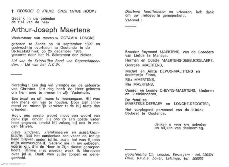 Arthur Joseph Maertens