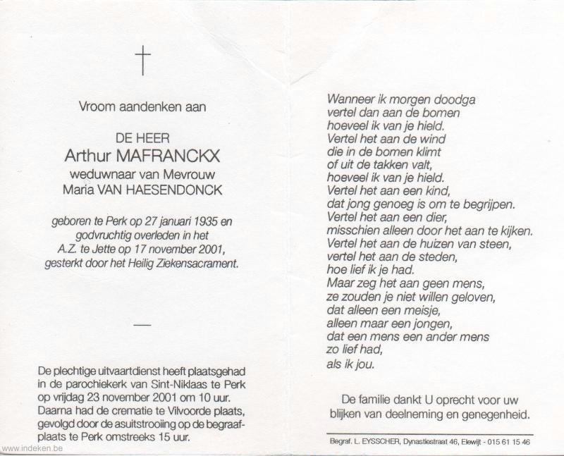 Arthur Mafranckx