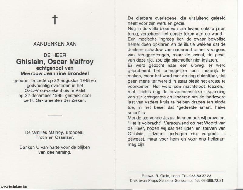 Ghislain Oscar Malfroy