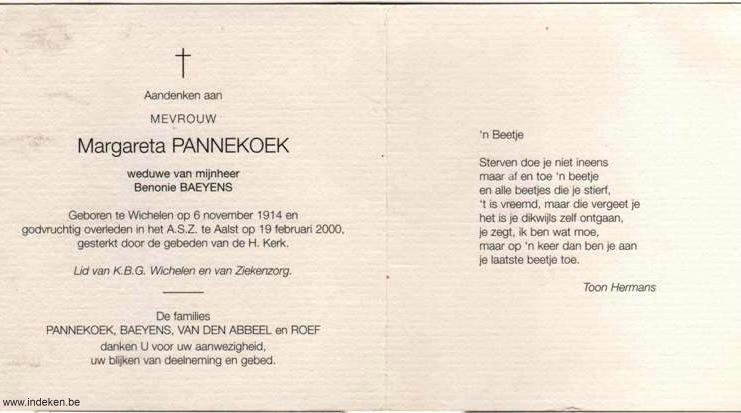 Margareta Pannekoek