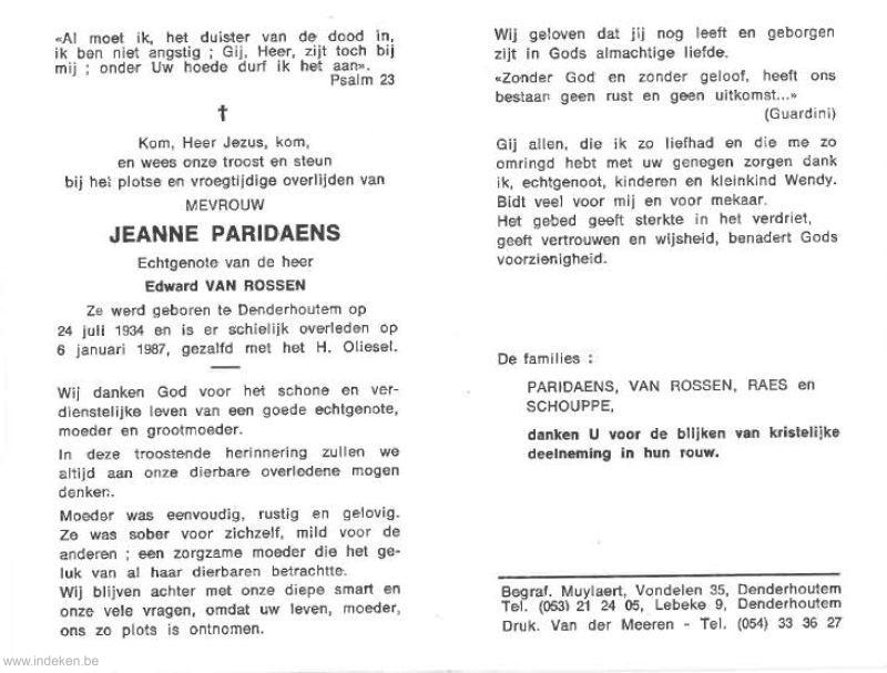 Jeanne Valentina Paridaens