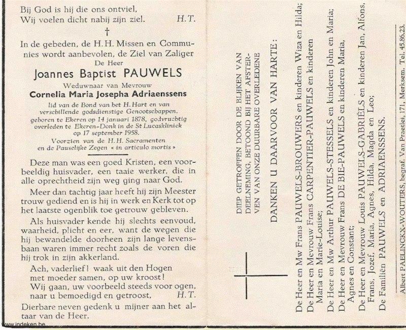 Joannes Baptist Pauwels