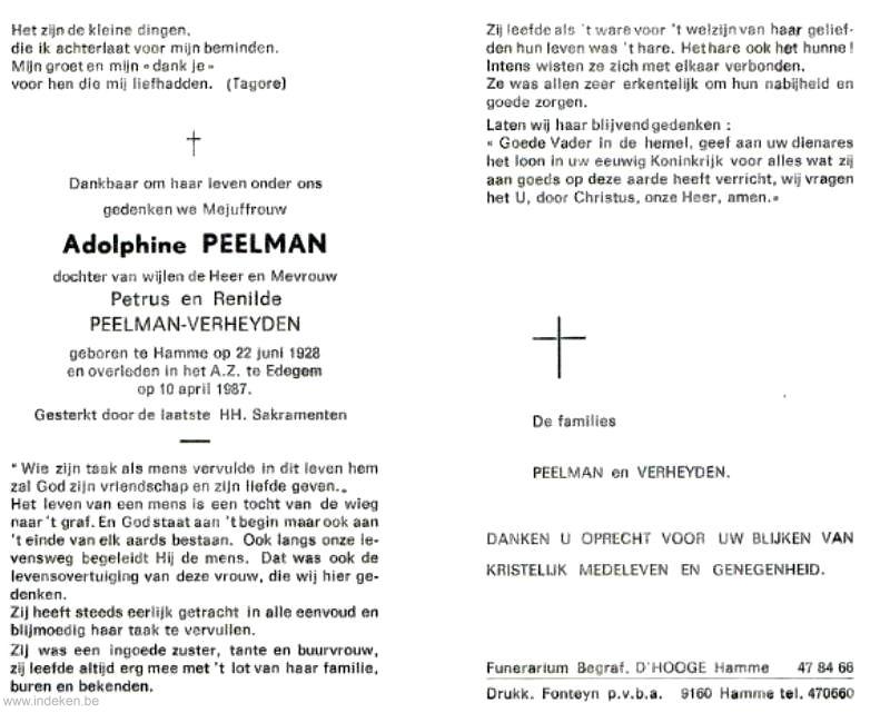 Adolphine Peelman