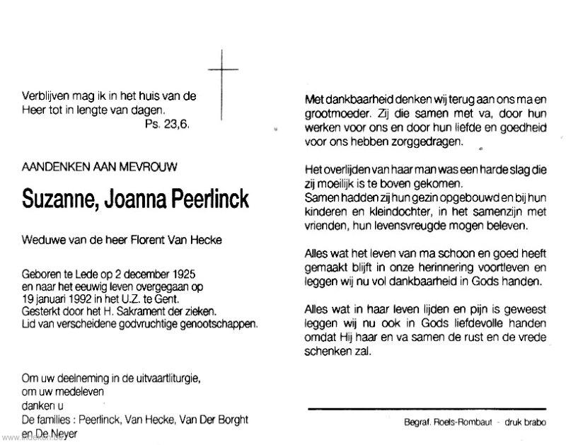 Suzanne Joanna Peerlinck