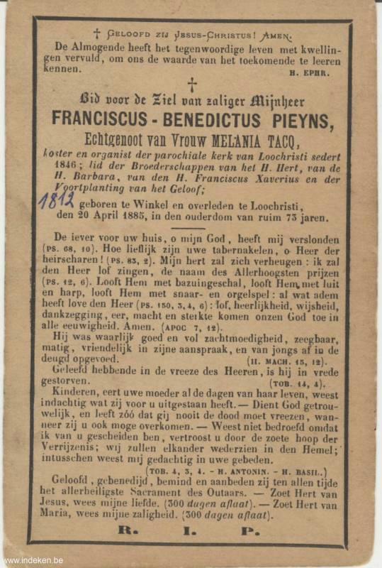 Franciscus Benedictus Pieyns