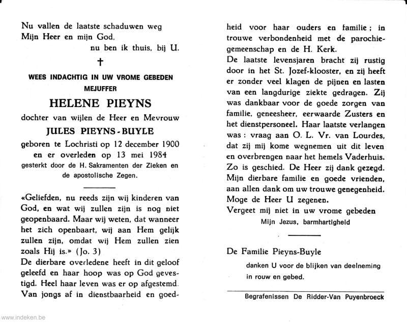 Hélëne Angelique Marie Pieyns