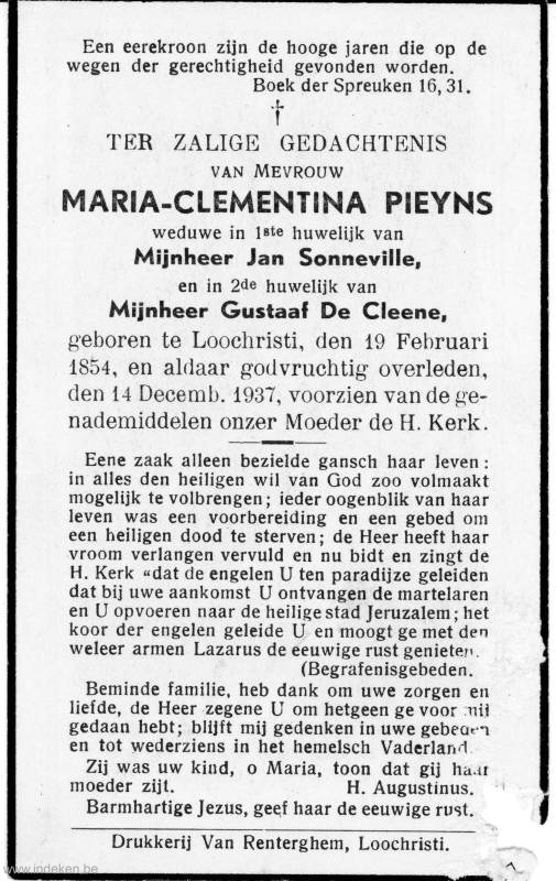 Maria Clementina Leocadia Pieyns