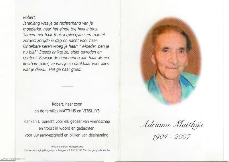 Adriana Josepha Matthijs