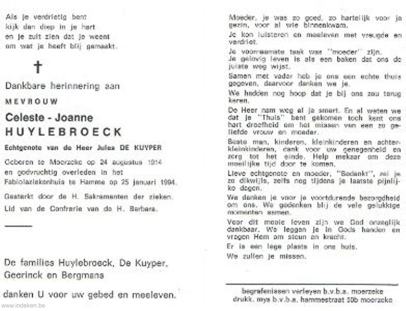 Celeste Joanne Huylebroeck
