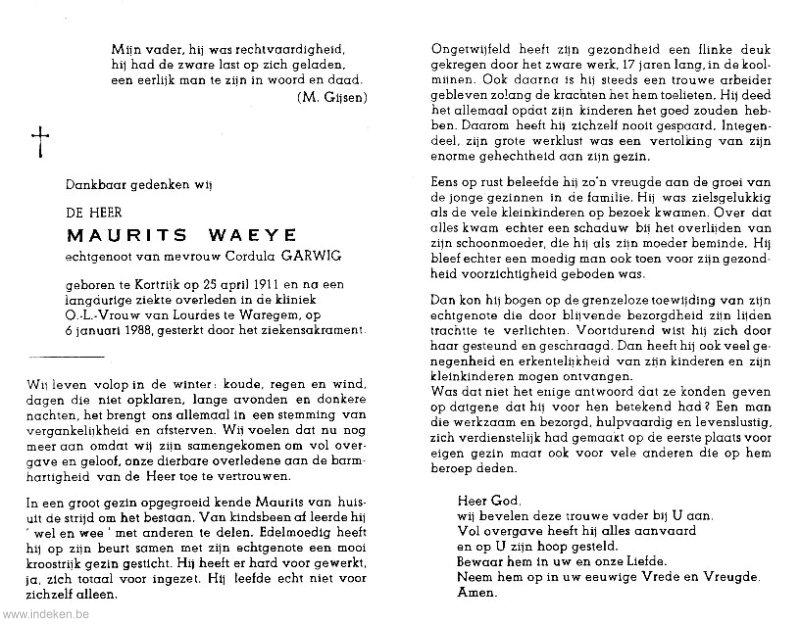 Maurits Hector Waeye