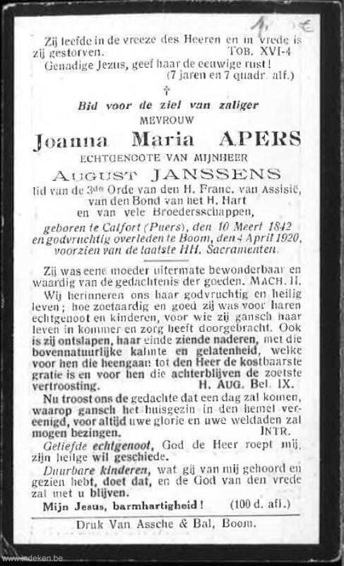 Joanna Maria Apers