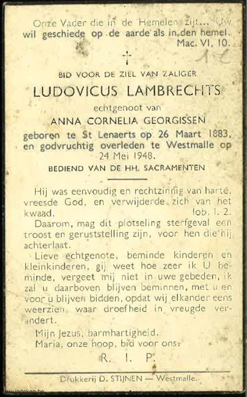 Ludovicus Henricus Lambrechts