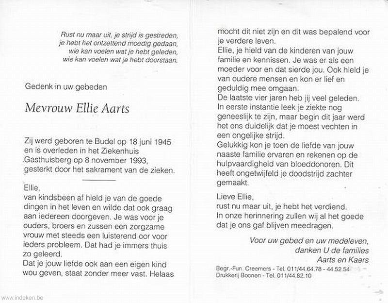 Ellie Aarts