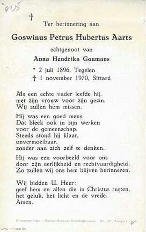 Goswinus Petrus Hubertus Aarts