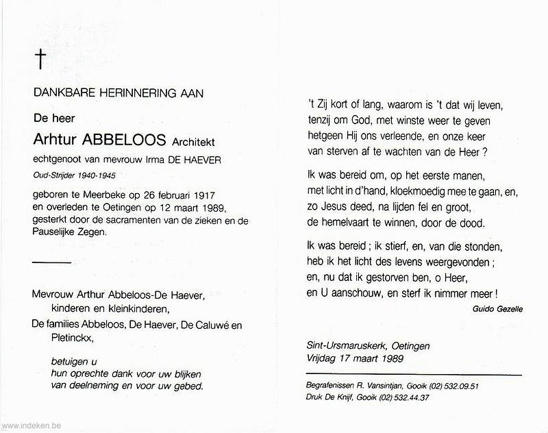 Arthur Abbeloos