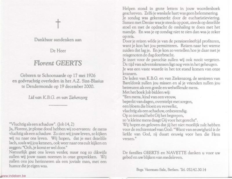 Florent Geerts