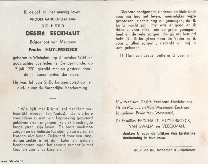 Desire Eeckhaut