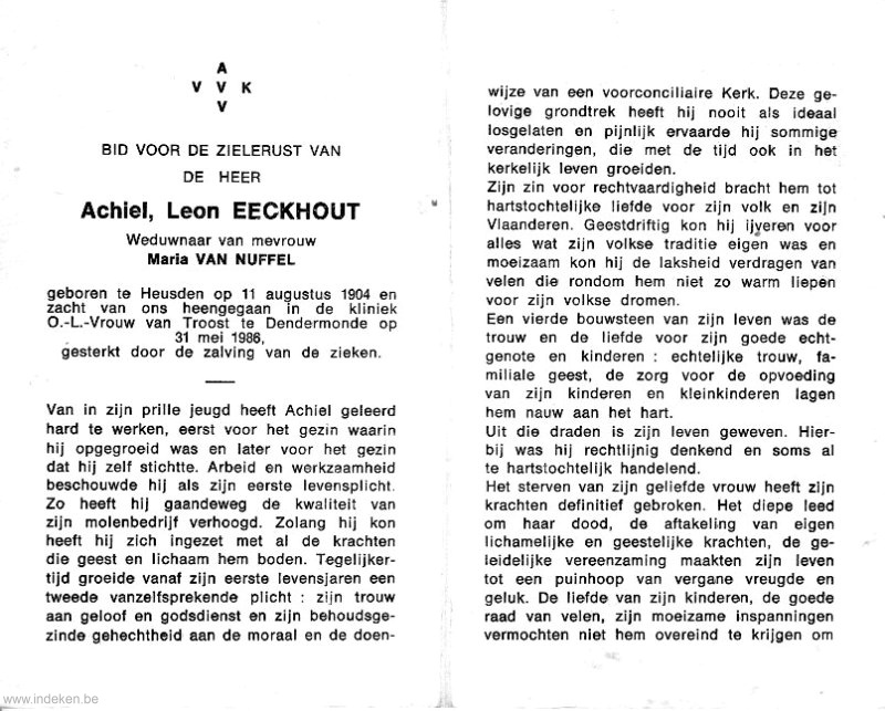 Achiel Leon Eeckhout