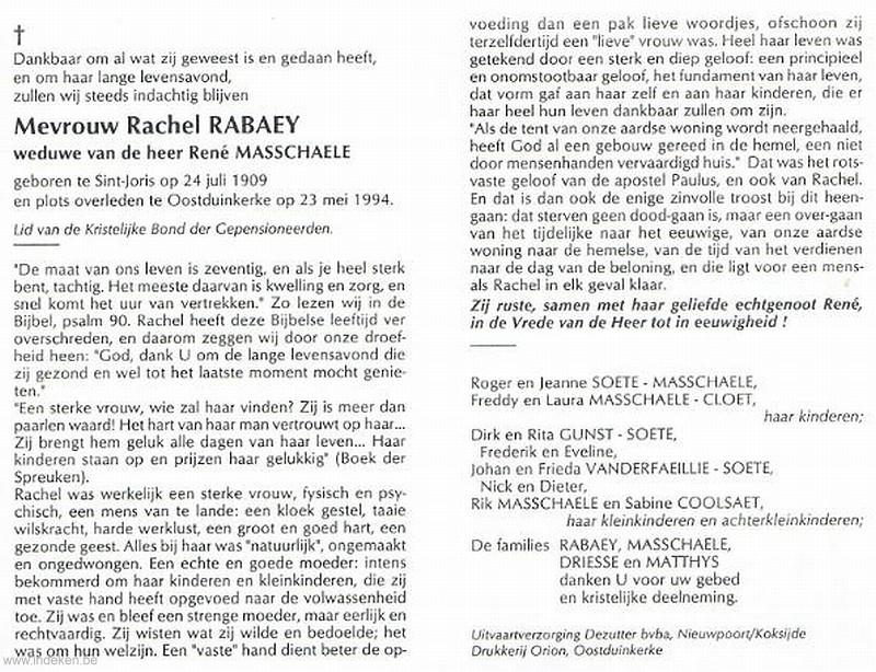 Rachel Rabaey