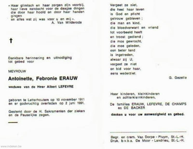 Antoinette Febronie Erauw