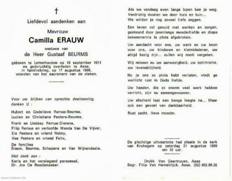 Camilla Stefania Erauw