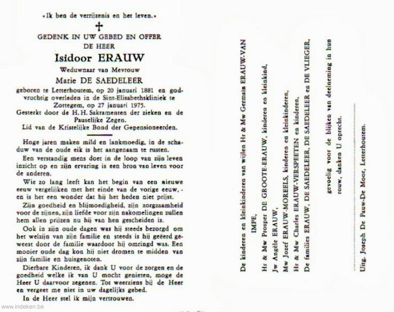 Isidoor Erauw