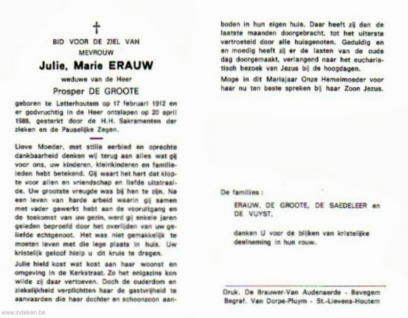 Julie Marie Erauw