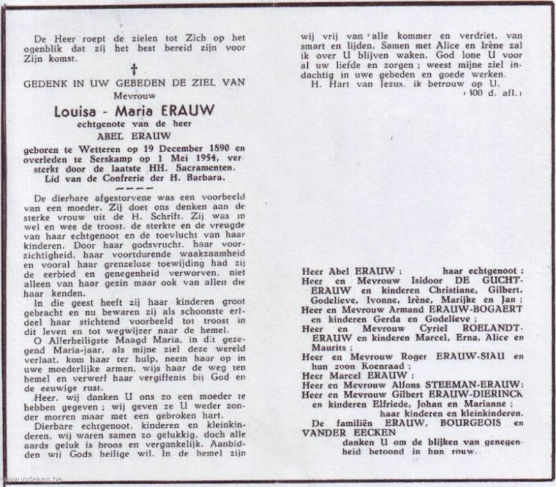Louisa Maria Erauw