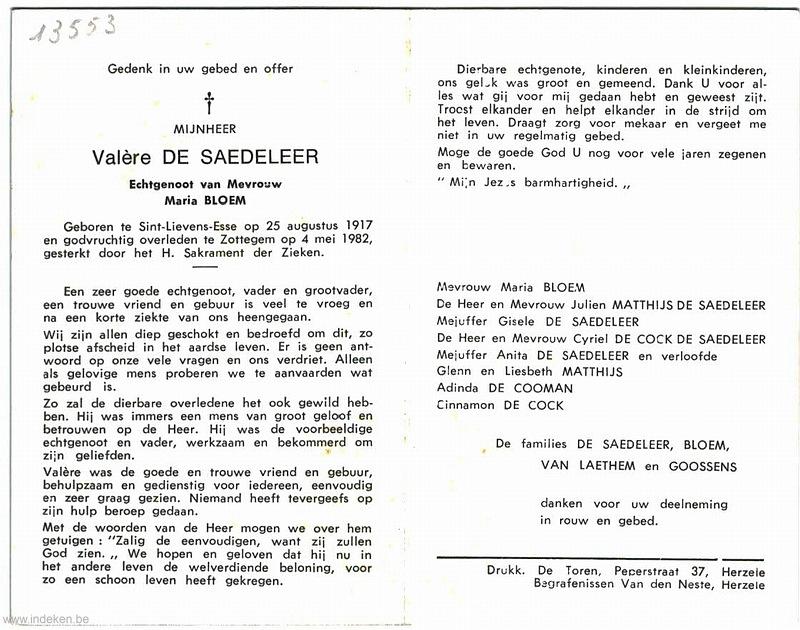 Valère Albert De Saedeleer