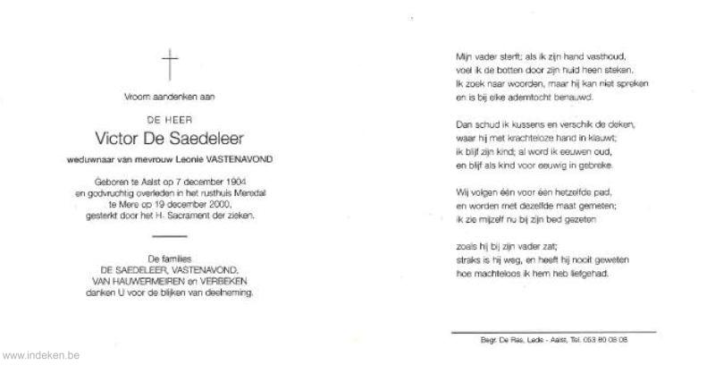 Victor De Saedeleer