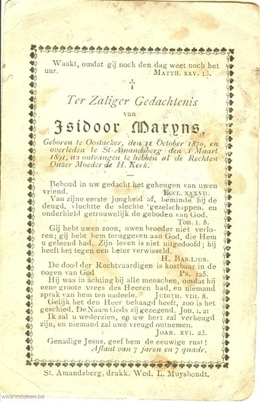 Isidorus Hieronemus Maryns