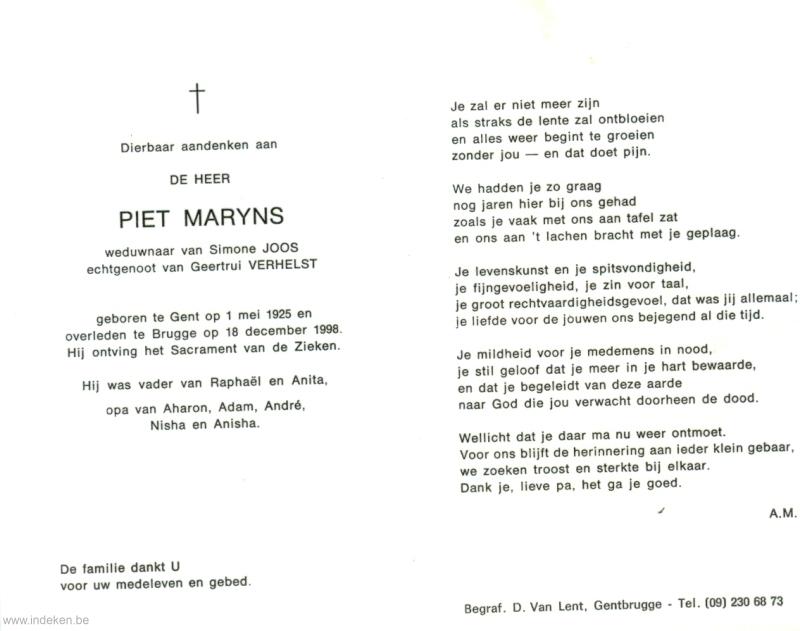 Pieter Jozef Maryns