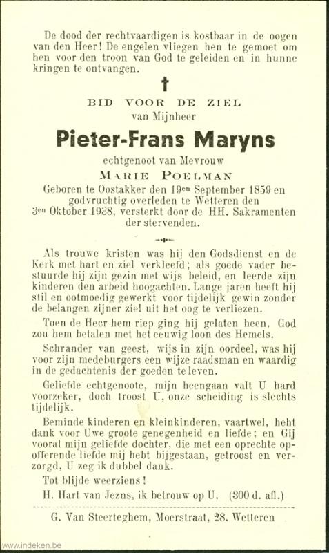 Petrus Franciscus Maryns