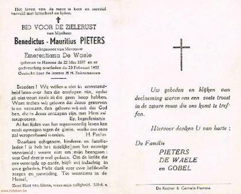 Benedictus Mauritius Pieters