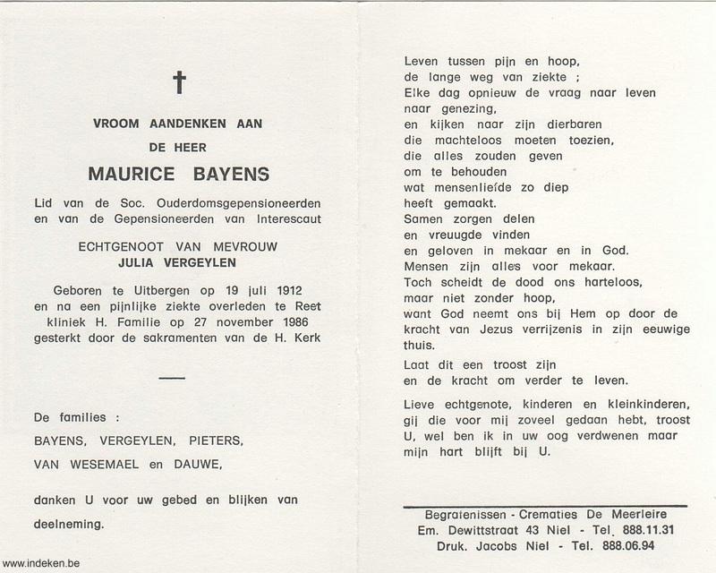 Maurice Bayens