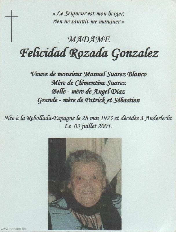 Felicidad Rozada Gonzalez
